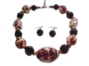 Fashion Jewelry Necklace Set Animal Print