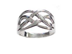 Plus Size Ring Sterling Silver Large Celtic Band