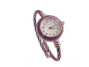 Purple and Silver Plus Size Watch Cable Wrap