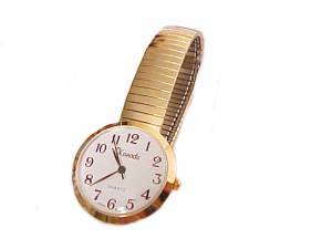 Men's Plus Size Watch-Stretch Easy Read Gold