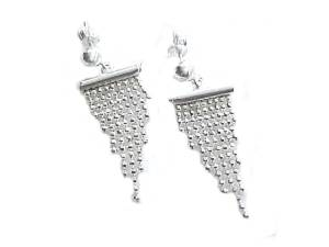 Sterling Silver Earrings Graduated Beads