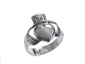 Sterling Silver Claddagh Plus Size Ring Size 9 and Size 10