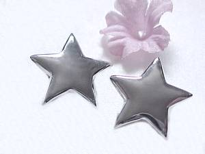 Stars Sterling Silver Clip Earrings Clip On