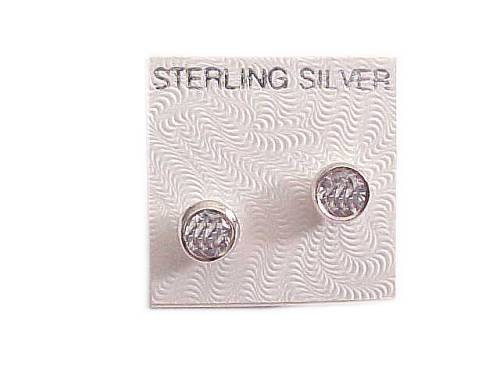 Sterling Silver Earrings Round Cz