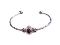 Eye Charm Plus Size Bangle Bracelet Cuff 7-8