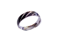Large Size Ring Stripe Black Band