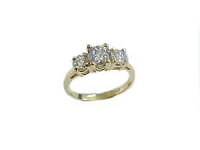 14k Gold Plus Size Engagement Ring Size 13