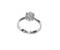 Plus Size Engagement Ring Round Cz Silver
