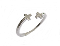 Polished Cross Large Size Ring