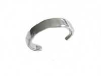 Flat Plain Band Toe Ring Sterling Silver