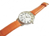 Orange Plus Size Watch Long Strap to 8.5 Inch