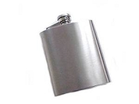 Stainless Steel Hip Flask Satin Finish