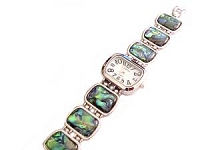 Plus Size Watch Wide Band Abalone