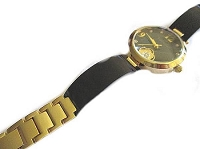 Plus Size Watch Black and Gold