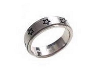 Plus Size Worry Ring Stainless Steel Stars