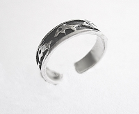 Dolphin Toe Ring Sterling Silver