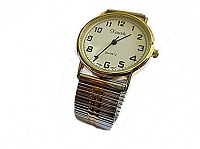 Men's Plus Size Watch Two Tone Gold Silver