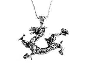 Men's Dragon Necklace Stainless Steel Dragon