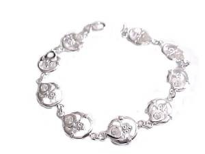 Sterling Silver Claddagh Plus Size Bracelet