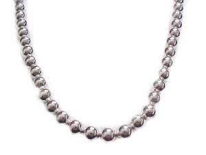 Fashion Jewelry Plus Size Necklace Silver Beads