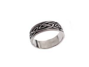 Celtic Braid Sterling Silver Plus Size Ring