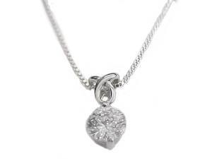 Cz Drop Plus Size Sterling Silver Necklace