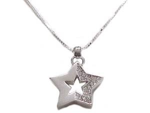 Star Plus Size Necklace Sterling Silver