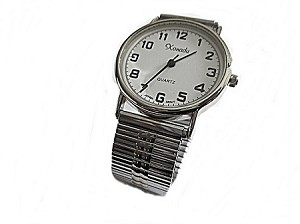 Men's Plus Size Watch Silver 8 to 10 Inch